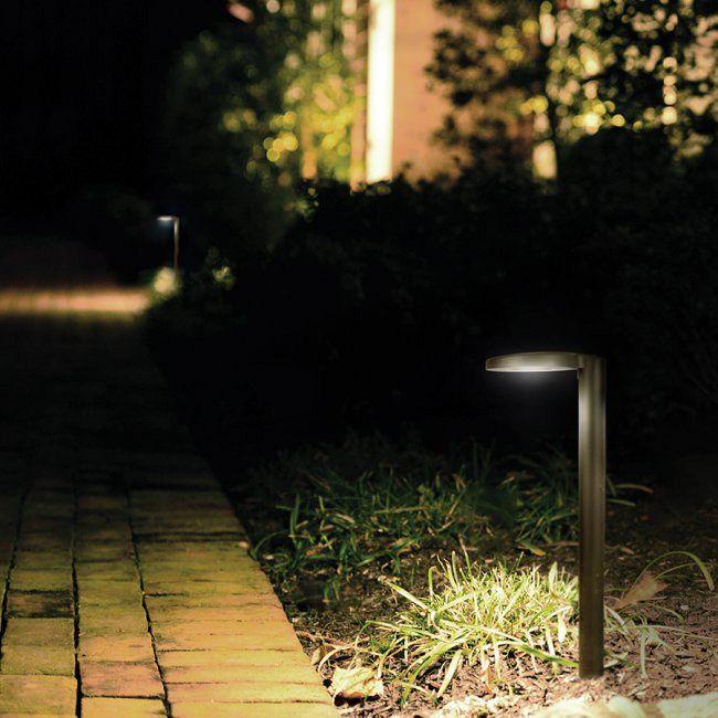 Round Outdoor Path Light By Wac Lighting 6031 27bz Outdoor Path Lighting Solar Lights Garden Solar Landscape Lighting