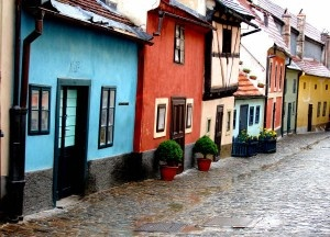 Cute homes in Prague.