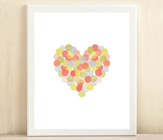 Confetti Heart Print: Heart Crafts Diy, Heart Prints, Heart Used Thumbprint, Prints Posters, Amanda Catherine, Confetti Heart, Fun Ideas, Catherine Design, Arteh Spots