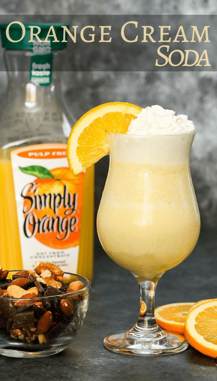 Give your mouth a shot of sunshine with this alcohol-free Orange creamsicle soda Mocktail drink recipe! Made with real Orange Juice and insanely easy to make a single serving or a large batch for a holiday party.  #SimplyHolidaysAtSams AD