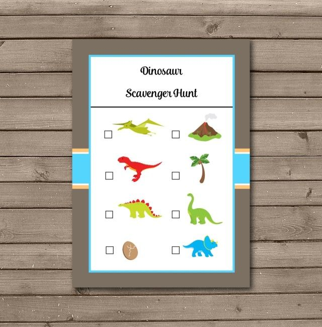 Dinosaur Party free printable Game