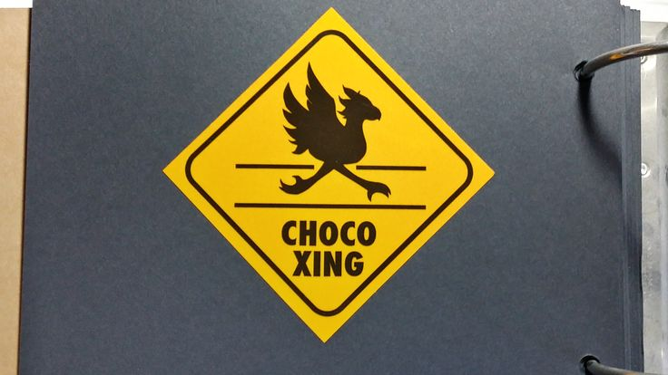 Final Fantasy Chocobo crossing sticker