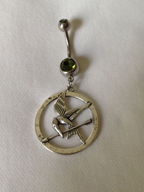 Mocking Jay Belly Ring