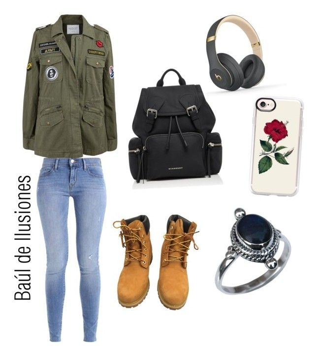 """""""Untitled #235"""" by abromero17 on Polyvore featuring Velvet by Graham & Spencer, Timberland, Burberry, Beats by Dr. Dre and Casetify"""