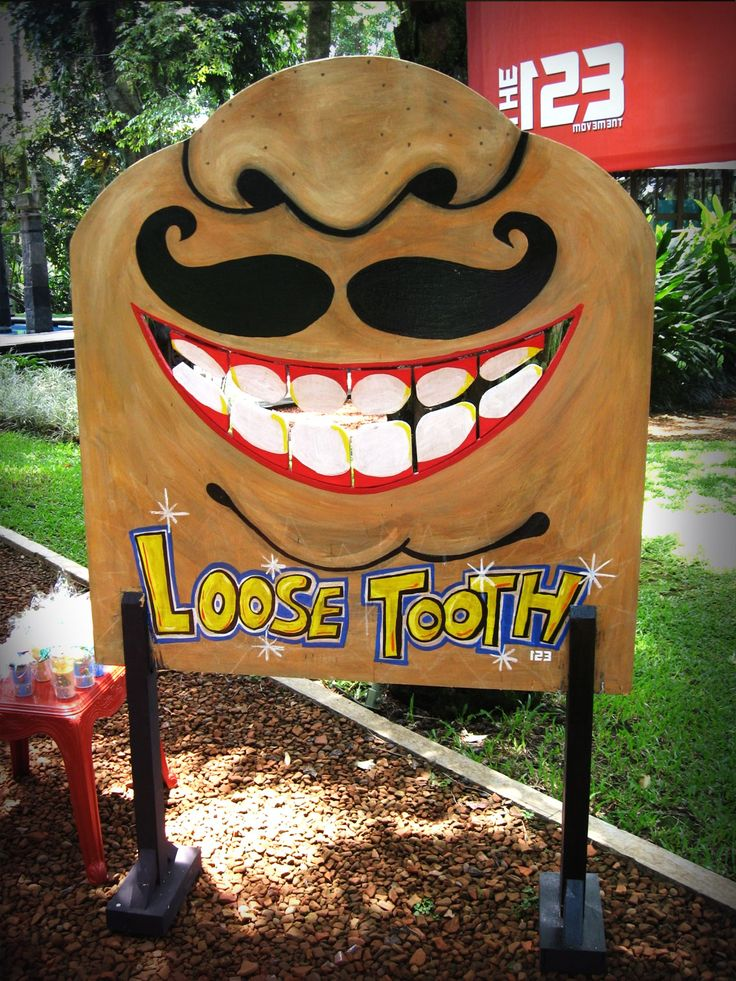 Homemade Loose Tooth Fun Game School Fete Stall Ideas