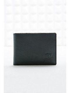 Herschel Miles Leather Wallet in Black