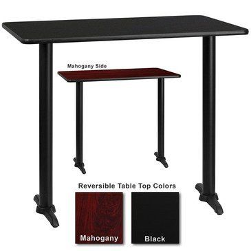 What is included:Table Top (1)Table Base (1) Complete your restaurant, break room or cafeteria with this reversible table top. The reversible laminate top features two different laminate finishes. This table top is designed for commercial use so you will be assured it will withstand the daily... more details available at https://furniture.bestselleroutlets.com/game-recreation-room-furniture/home-bar-furniture/bar-wine-cabinets/bar-tables/product-review-for-flash-furniture-24-