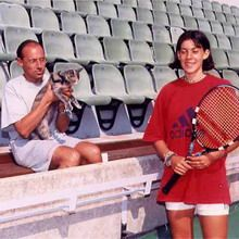 Early photo - Marion Bartoli and her father Walter