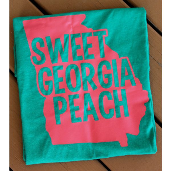 Sweet Georgia Peach Monogrammed Comfort Colors Long Sleeve Tshirt ($30) ❤ liked on Polyvore featuring tops, t-shirts, black, women's clothing, checkered shirt, long sleeve tee, black long sleeve tee, black tee i black long sleeve shirt