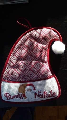 Decorazione per la casa a punto croce - cappello Buon Natale