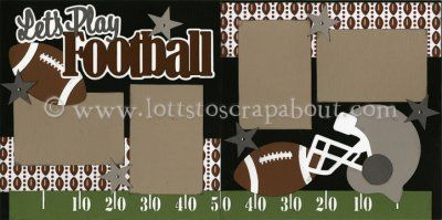 Let's Play Football Scrapbook Page Kit [letsplayfootball12] - $7.99 :: Lotts To Scrap About - Your Online Source for Scrapbook Page Kits!