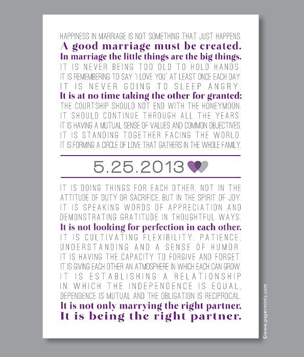 12x18 The Art of Marriage Print Wedding Poem by papermintsshop, $52.00