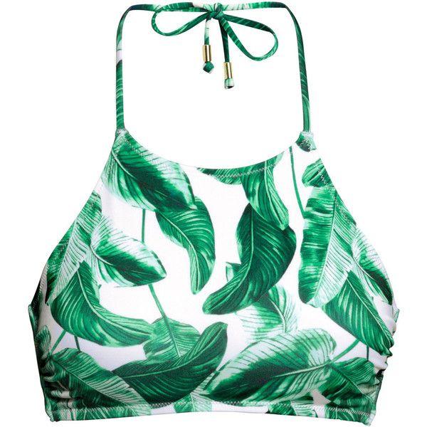 H&M Bikini top ($11) ❤ liked on Polyvore featuring swimwear, bikinis, bikini tops, tops, swimsuits, crop tops, tankini swimsuit tops, h&m bathing suits, bikini swimwear and swim crop top