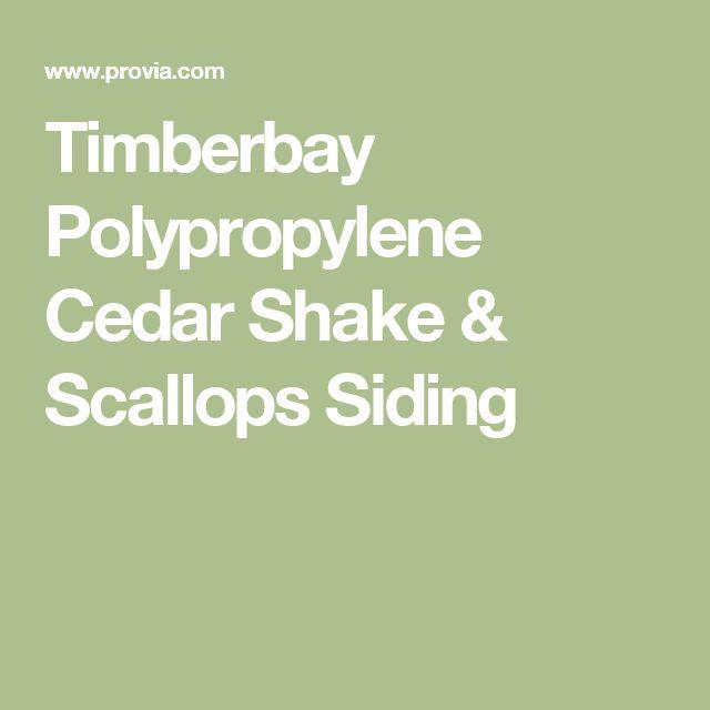 Timberbay Polypropylene Cedar Shake & Scallops Siding