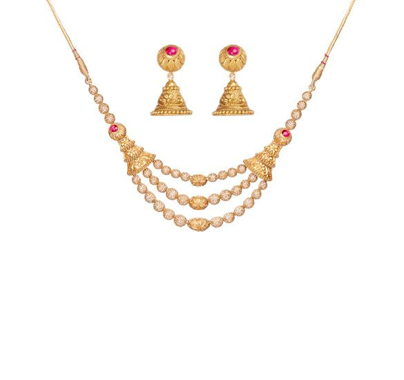Tanishq Ruby Necklace Set For Wedding Gold Necklace Designs Gold Necklace Necklace Designs