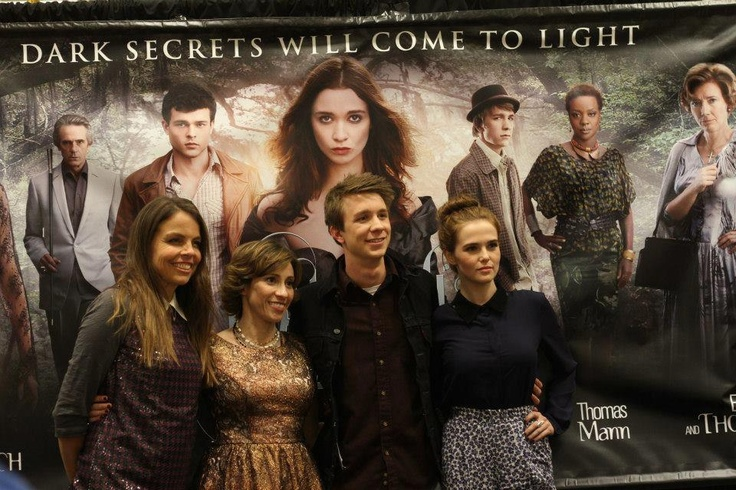 #BeautifulCreatures authors #MargaretStohl and #KamiGarcia with film stars #ZoeyDeutch and #ThomasMann in Atlanta.    Photo courtesy of VLC Productions.