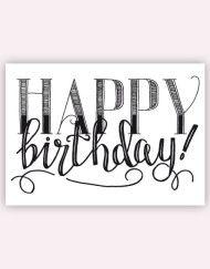 Happy Birthday #postcard #postkaart #handlettering #happybirthday