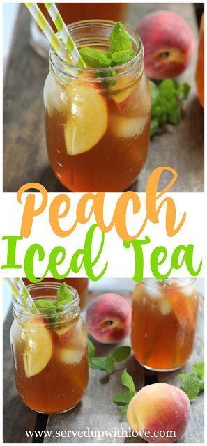Perfectly peachy Peach Tea recipe from Served Up With Love. The dog days of summer have arrived and boy do we need to stay hydrated. So easy you just won't believe it. www.servedupwithlove.com