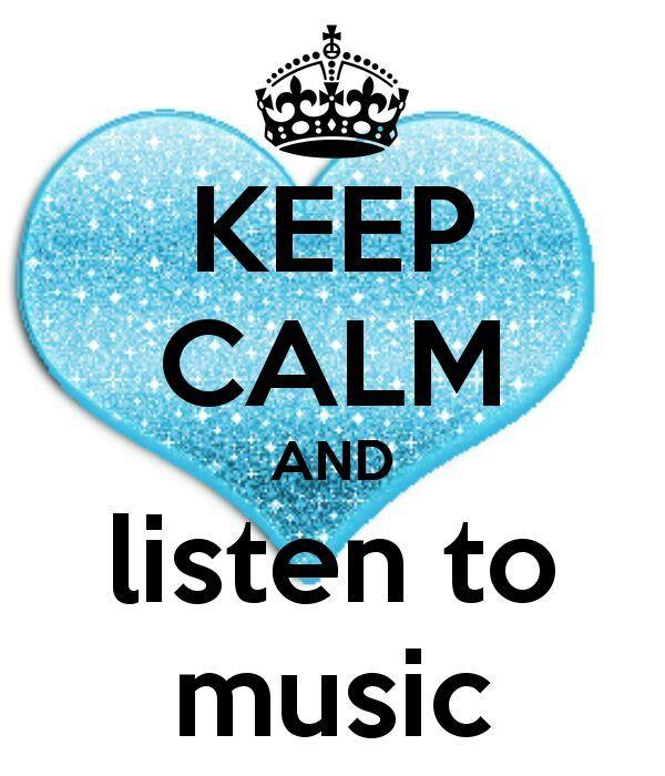 Mantieni la calma e ascolta la musica