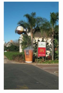 MacDonald's entrance. Coffee anyone?