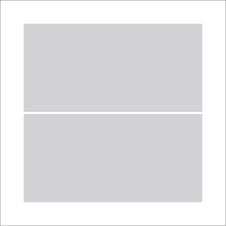 Fotocollage 50x50 | 2 Bilder Quadratisch