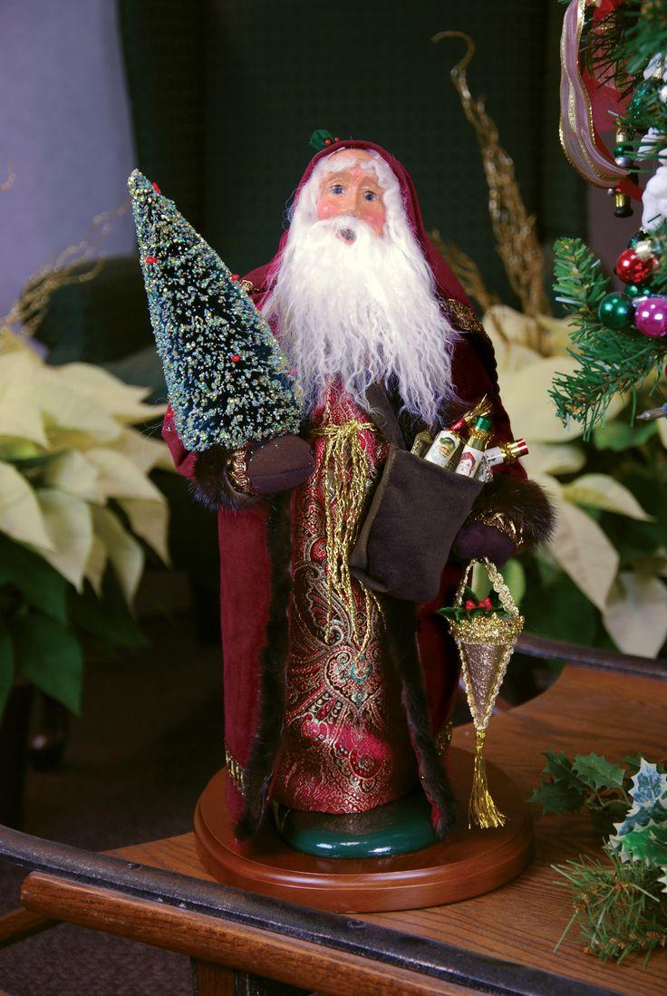 Christmas carolers figurines for sale - Byers Choice Carolers 19 Fur Trimmed Santa Carolerfurfigurines