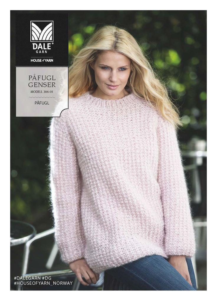 Dagens gratisoppskrift: Rosa Påfugl-genser | Strikkeoppskrift.com