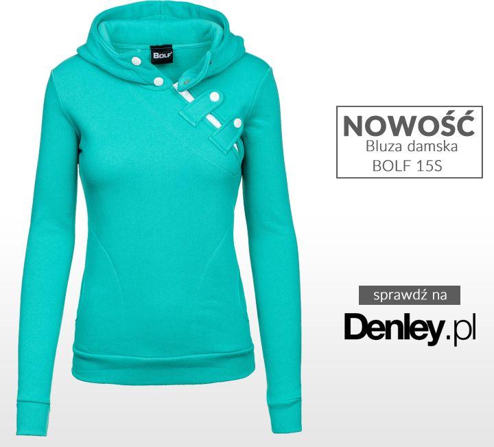 W ofercie Denley.pl nowe modele damskich bluz w najmodniejszych kolorach! Przed Wami jeden z nich: http://www.denley.pl/product-pol-38128-Bluza-damska-BOLF-15S-mietowy-.html