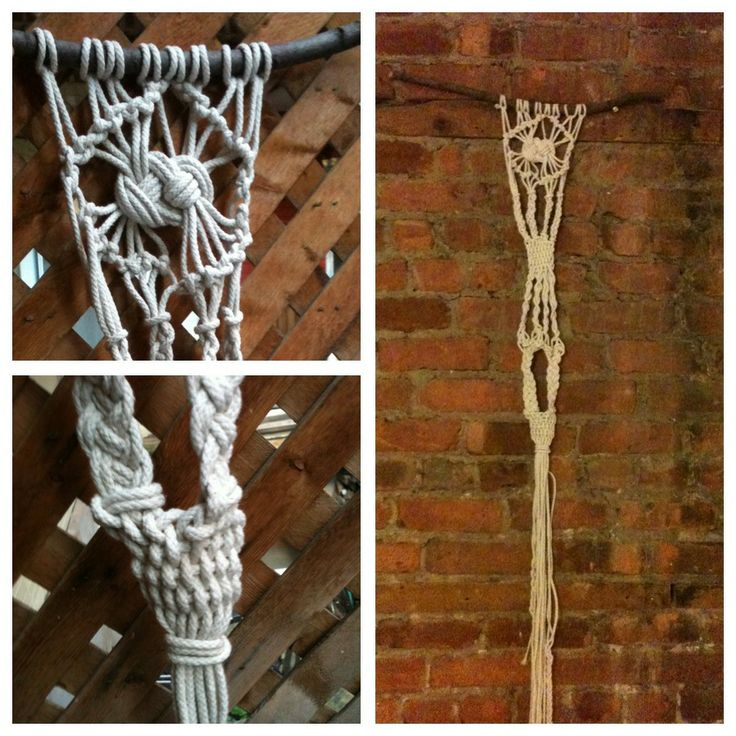 Tentative wall decorative macramé