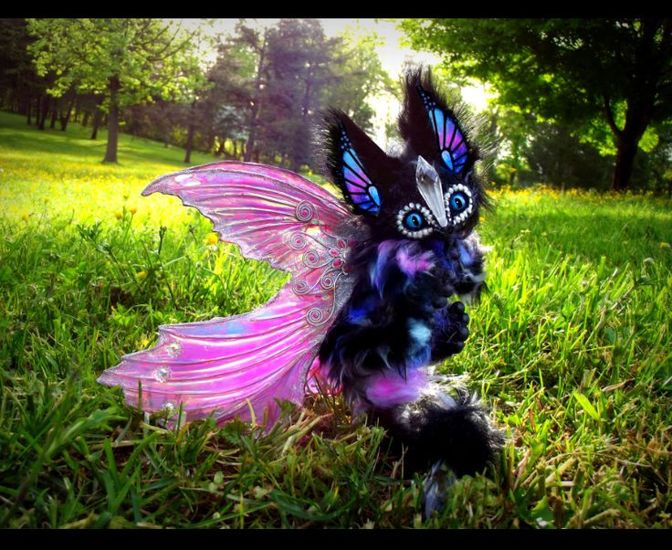 --SOLD-- Poseable Winged Baby Glass Dragon! by Wood-Splitter-Lee.deviantart.com on @deviantART