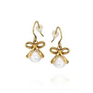 Molly bride earrings gold Ingnell Jewellery