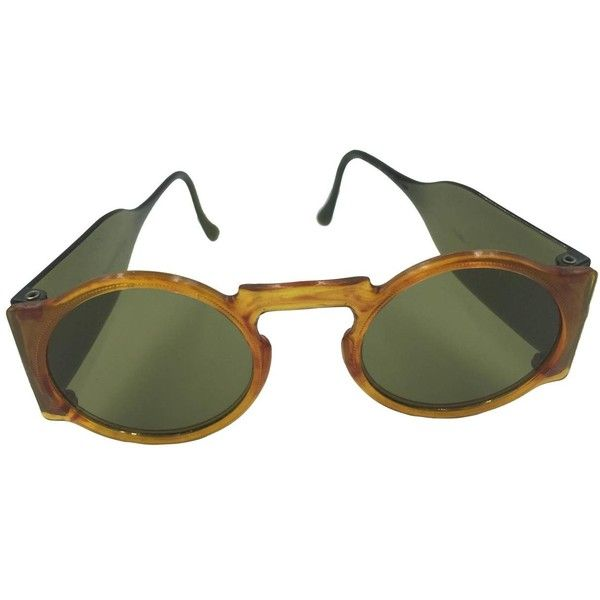 Pre-owned Rare 1930's Faux Tortoise Sunglasses with Side Shields. ($295) ❤