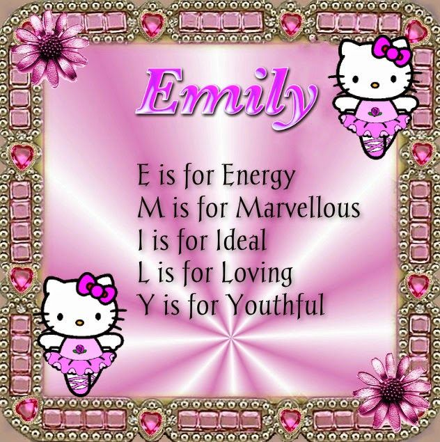 Emily Name Meaning Poems Acrostic Graphics