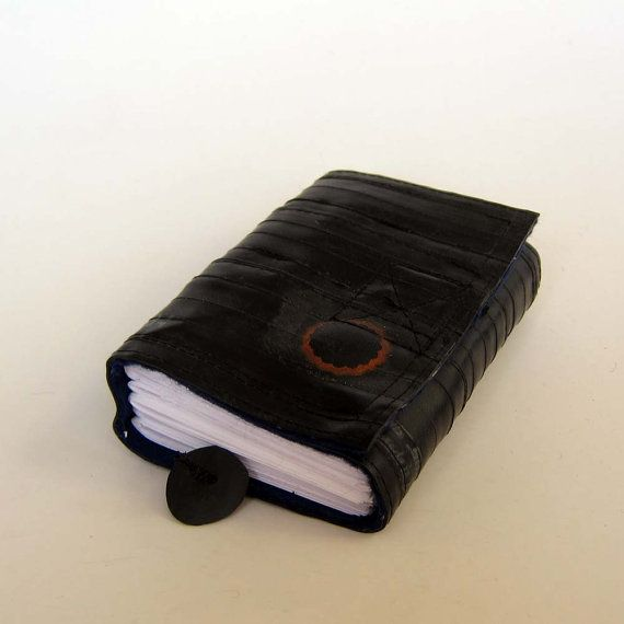 Recycled journal bike inner tube blank pages blue by palepink, kr245.00
