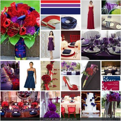 105 best red weddings w colors images on pinterest red Navy purple color