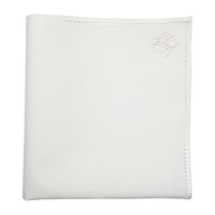Personalised White Cotton Pocket Square