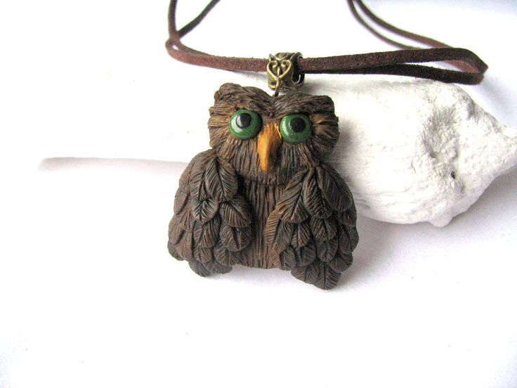 Excited to share the latest addition to my #etsy shop: Owl necklace - Owl jewelry gift - #Owl pendant - Owl jewelry - Owl gift for her - Jewelry Owl gift - Christmas #gift - Owl charm necklace #jewelry #necklace #brown #ceramic #girls #animals #animal https://etsy.me/2pAqf3G