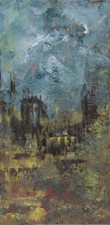 Artist: Gordana Suric - Title: In The Distence (Height - 60.00 cm X Width - 30.00 cm ) $300