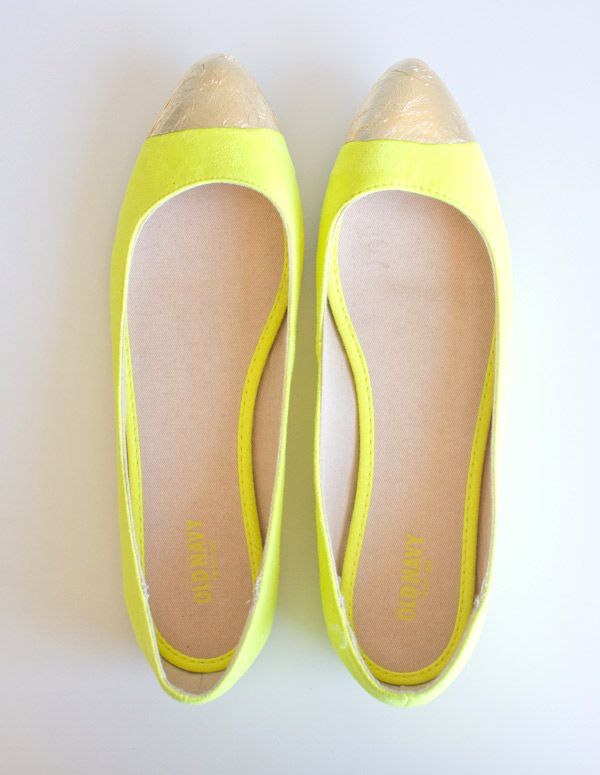 DIY Gold-Toe Flats   Lovely Indeed