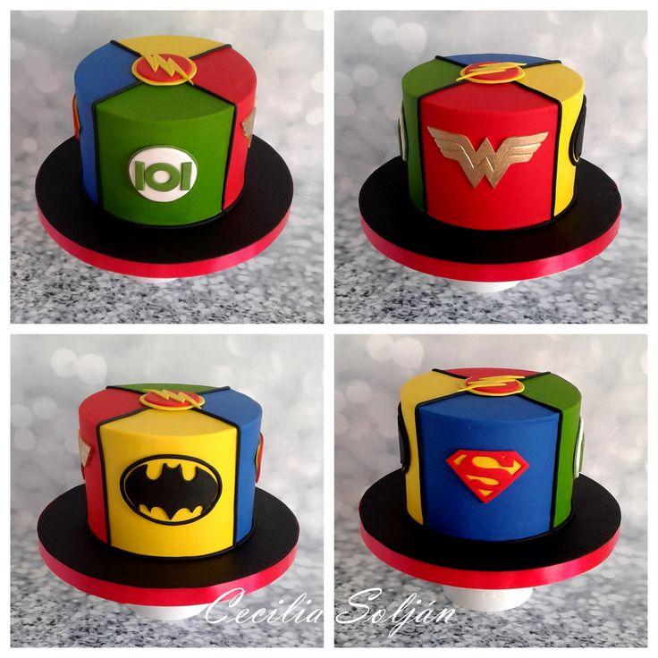La liga de la justicia Justice league cake