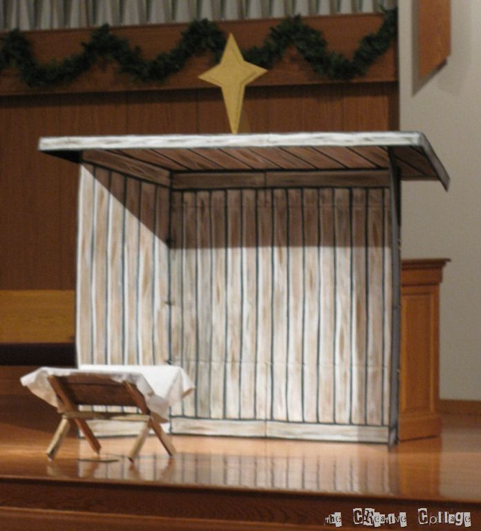 building a large easy to store nativity stable - Google Search
