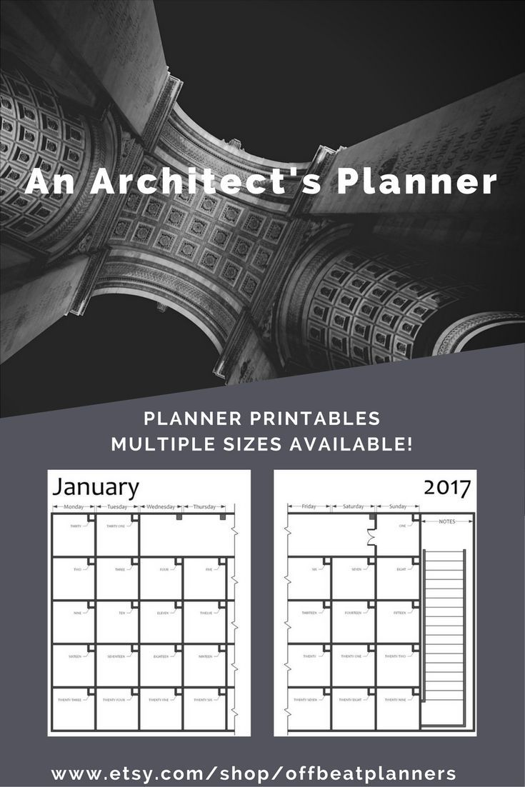 Lovely  PLANNER PRINTABLE PLANNER INSERTS For all my Archi Friends and Drafting Lovers