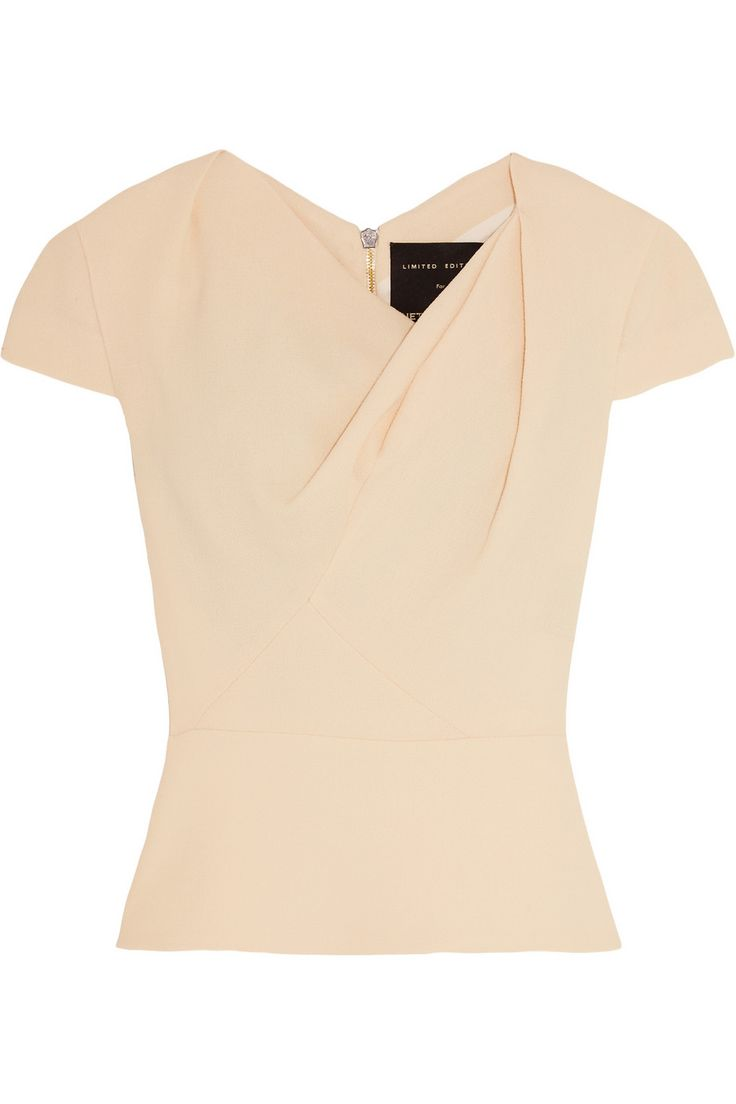 Roland Mouret | Hato gathered wool-crepe top | NET-A-PORTER.COM