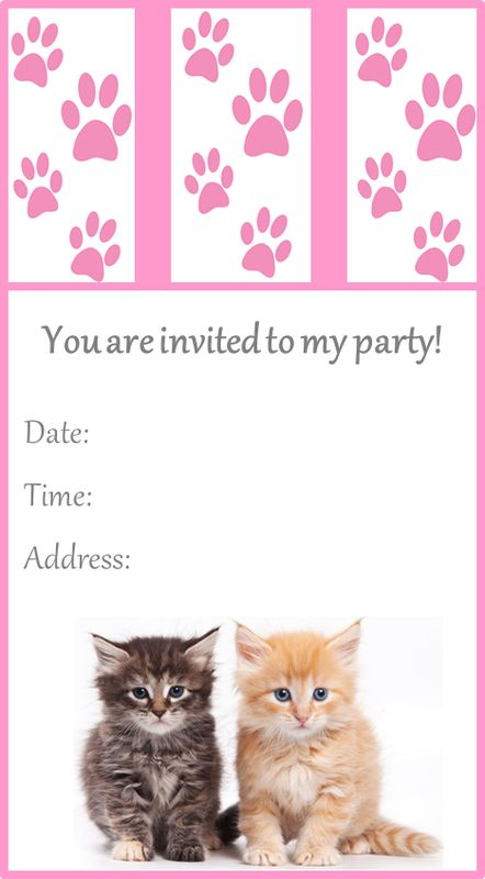 29 best Cat Birthday Party images on Pinterest Cat birthday, Cat - fresh cat birth certificate free printable