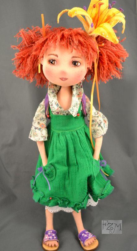 art dolls, rag doll, fabric doll