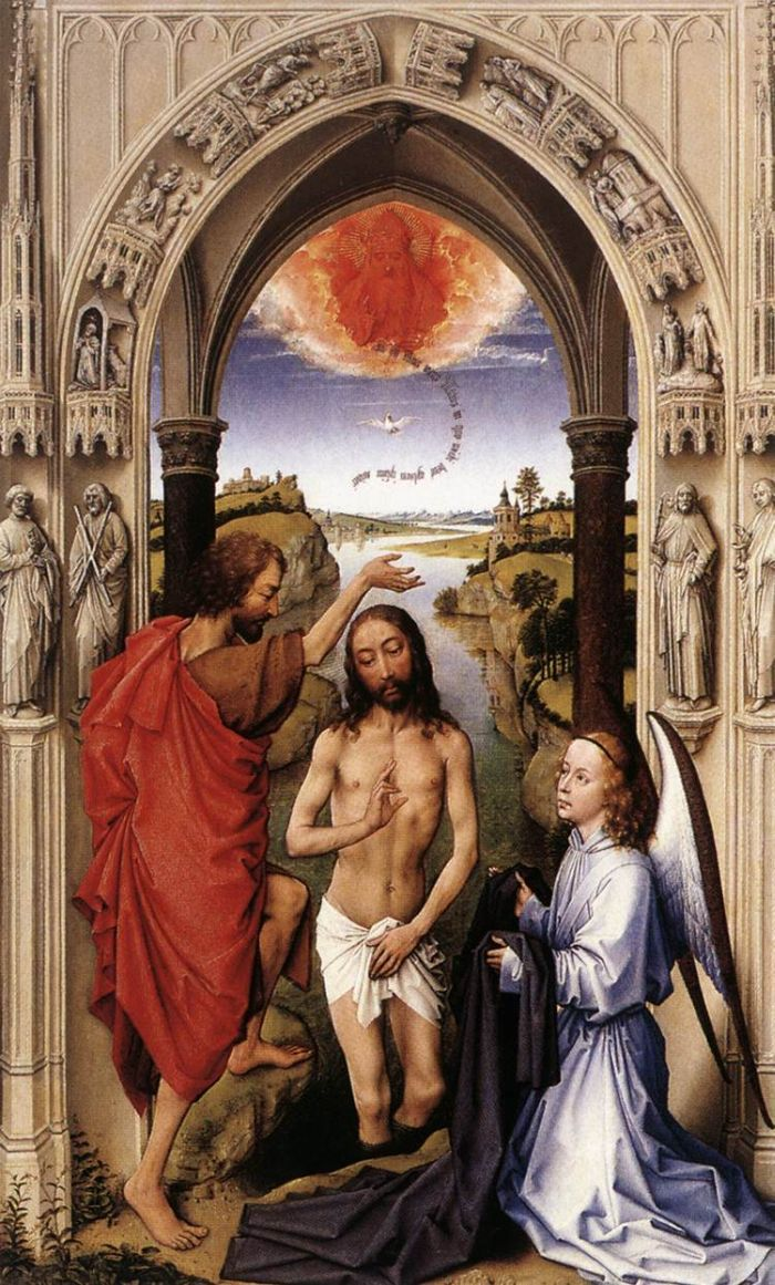 St John Altarpiece (central panel) by WEYDEN, Rogier van der #art: Weyden Rogier, The Weyden, Central Panels, Altarpiec Central, Vans Of, Rogier Vans, Altars Rogier, Der Art, John Altarpiec