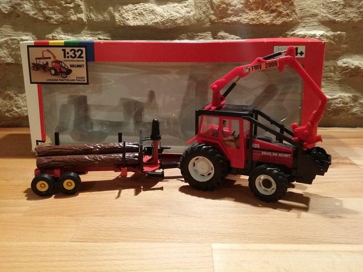 Britain's Farm Volvo BM Valmet 805 logging tractor and trailer 1:32 scale   eBay