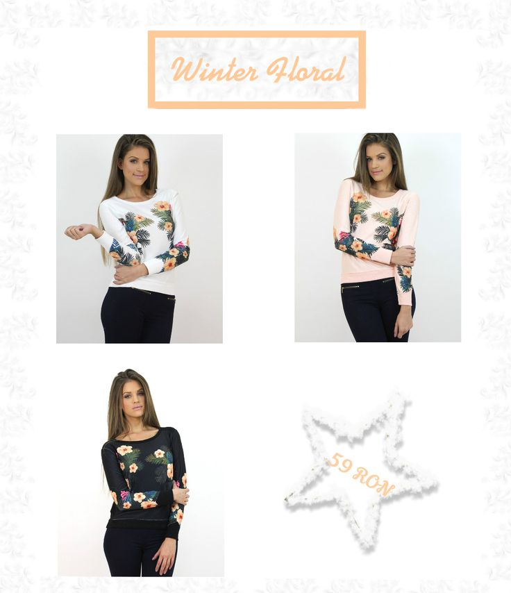Why worry about the sad weather outside...:) Sport these #floral print #jumpers during the cold season....:) All items available at www.famevogue.ro  #haine #imbracaminte #style #casual #winter #fashion