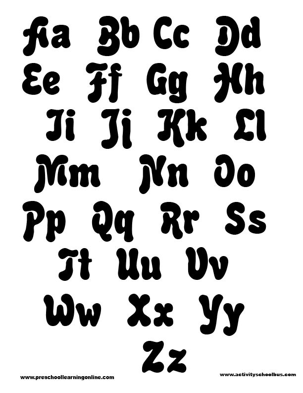 Free Printable Funny Alphabet Letters | Free Printable Alphabet-Alphabet Printables-Printable Letters