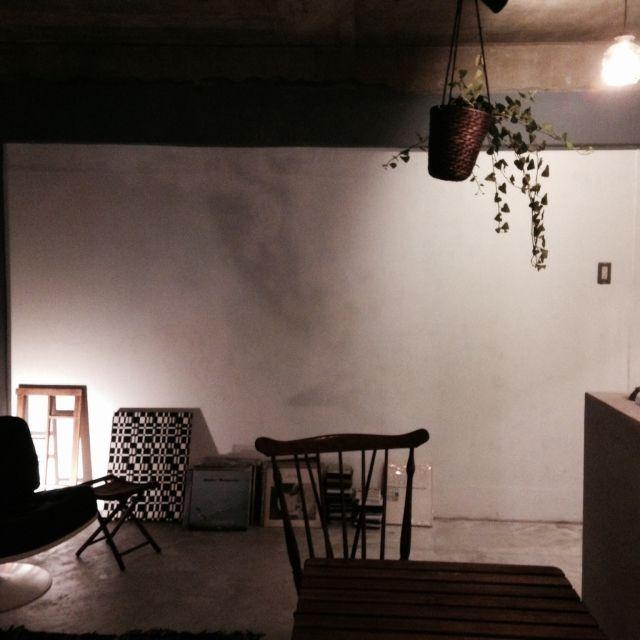 Kentaroさんの、リビング,照明,塗装,コンクリート打ちっ放し,ミニマリスト,のお部屋写真